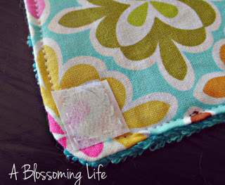 sewing velcro on unpaper towels
