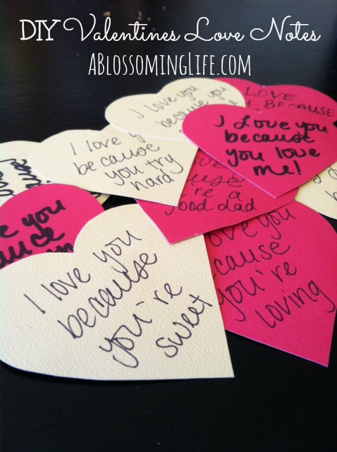 DIY Valentines Love Notes