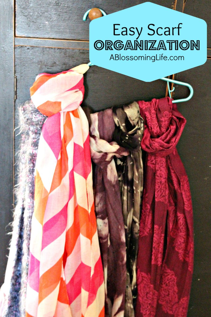 Easy Scarf Organization