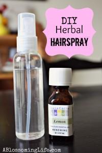 DIY Natural Herbal Hairspray