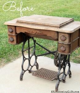 DIY Old Sewing Machine Redo to Nightstand!