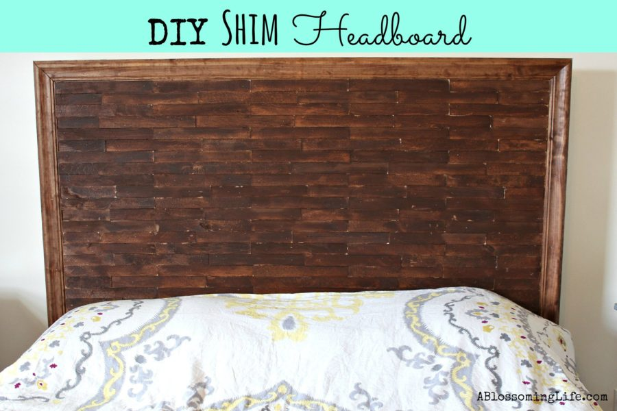 Diy shim headboard a blossoming life Homemade headboard ideas cheap