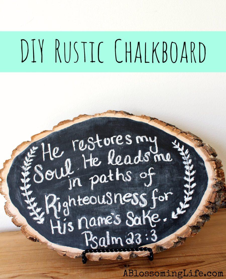 DIY Rustic Wood Chalkboard -