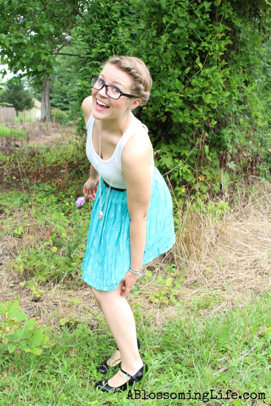 thrift store dress outtake