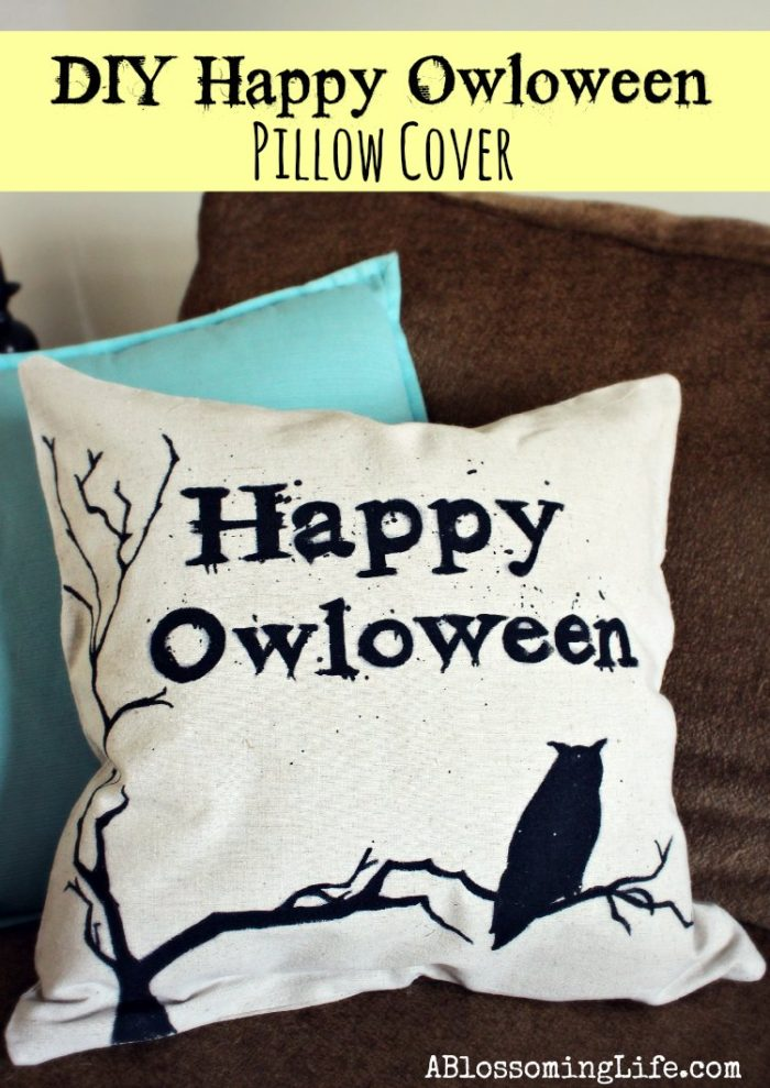 DIY Happy Owloween Pillow cover