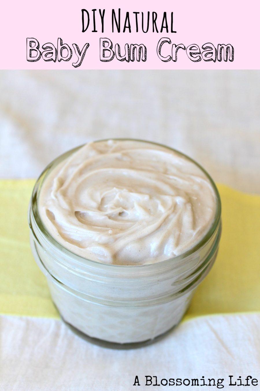 DIY Natural Baby Bum Cream