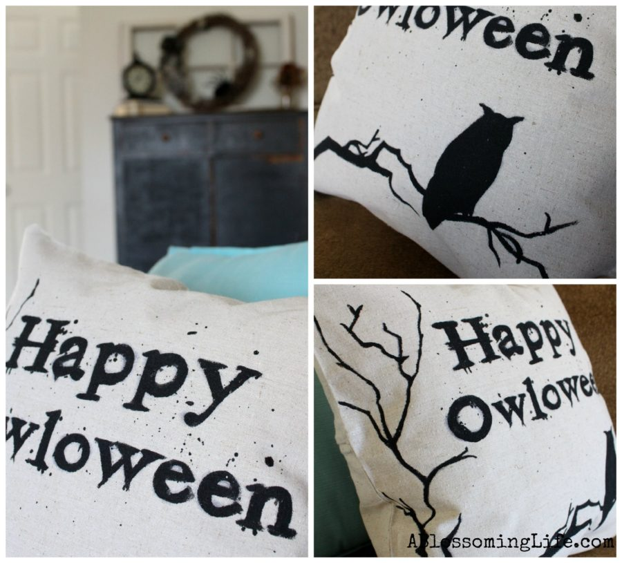 DIY Owloween Pillow Cover Collage