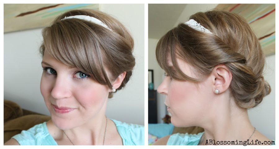 Easy Twisted Updo For Long Or Short Hair A Blossoming Life