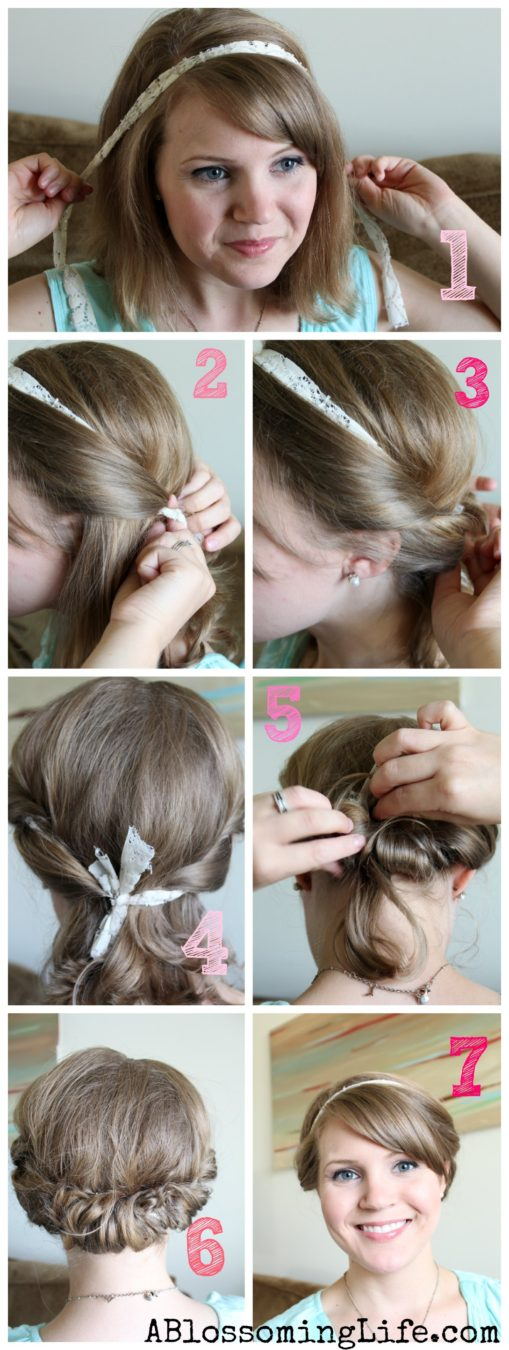 Easy Twisted Updo for Long or Short Hair