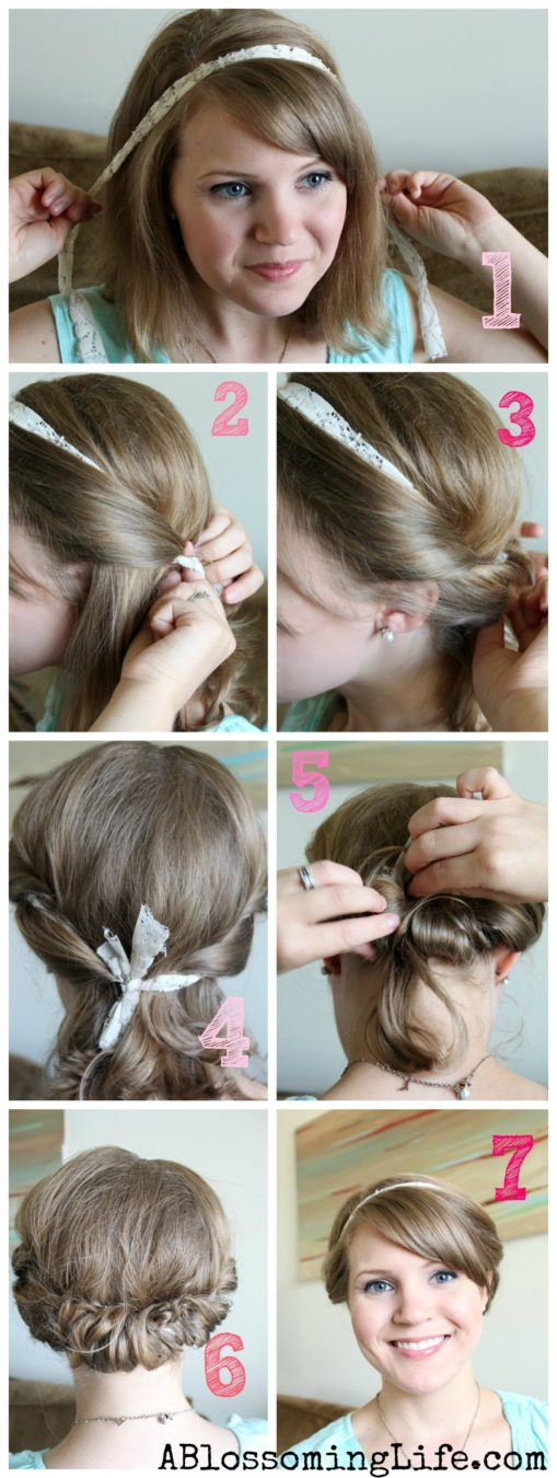 Easy Updo Tutorial