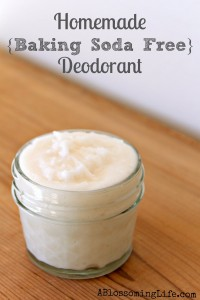 Homemade {Baking Soda Free} Deodorant