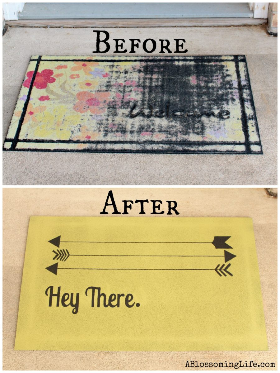 before and after diy mat Collage