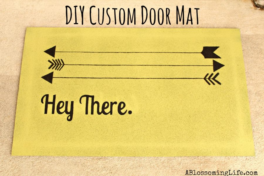 diy custom door mat