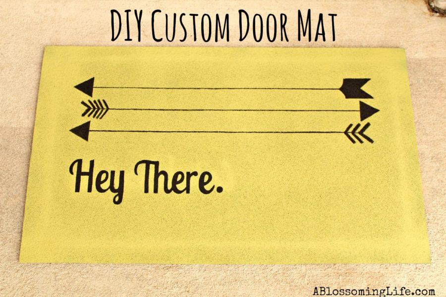 Easy DIY Custom Door Mat -