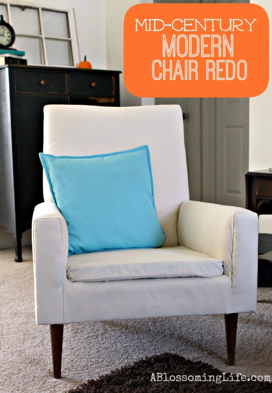 Mid-century modern chair redo 1