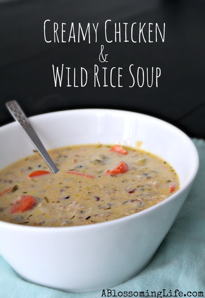 Creamy chicken and wild rice soup 3
