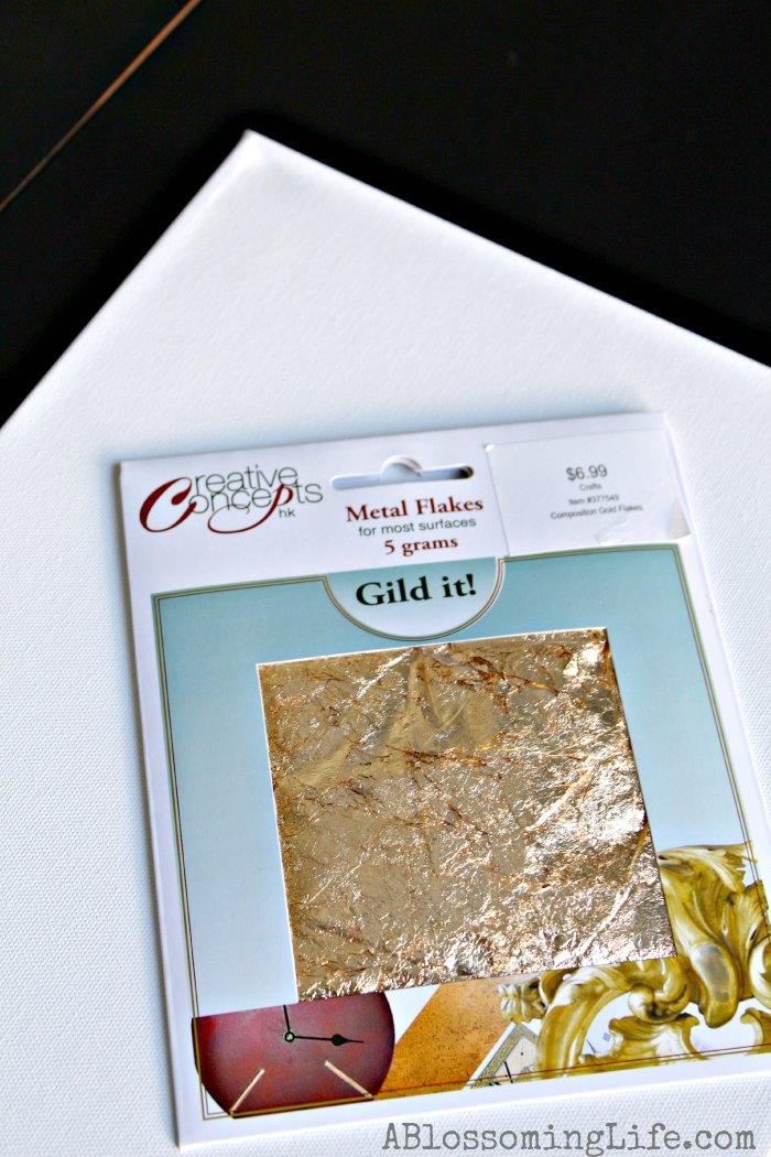 Gold leaf heart 1
