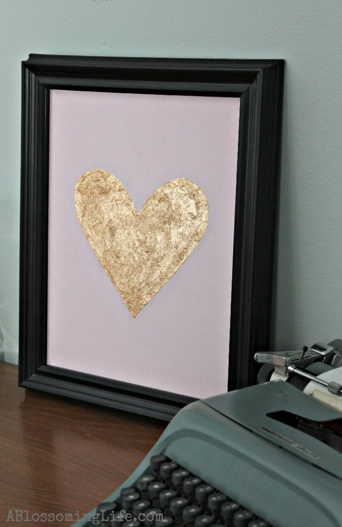 Gold leaf heart 7