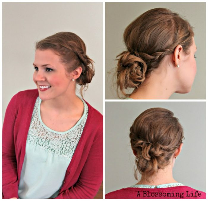 DIY Braid Updo by A Blossoming Life