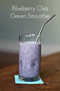 Blueberry Chia Green Smoothie