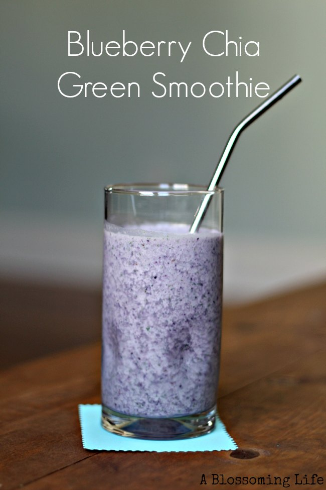 Blueberry Chia Green Smoothie