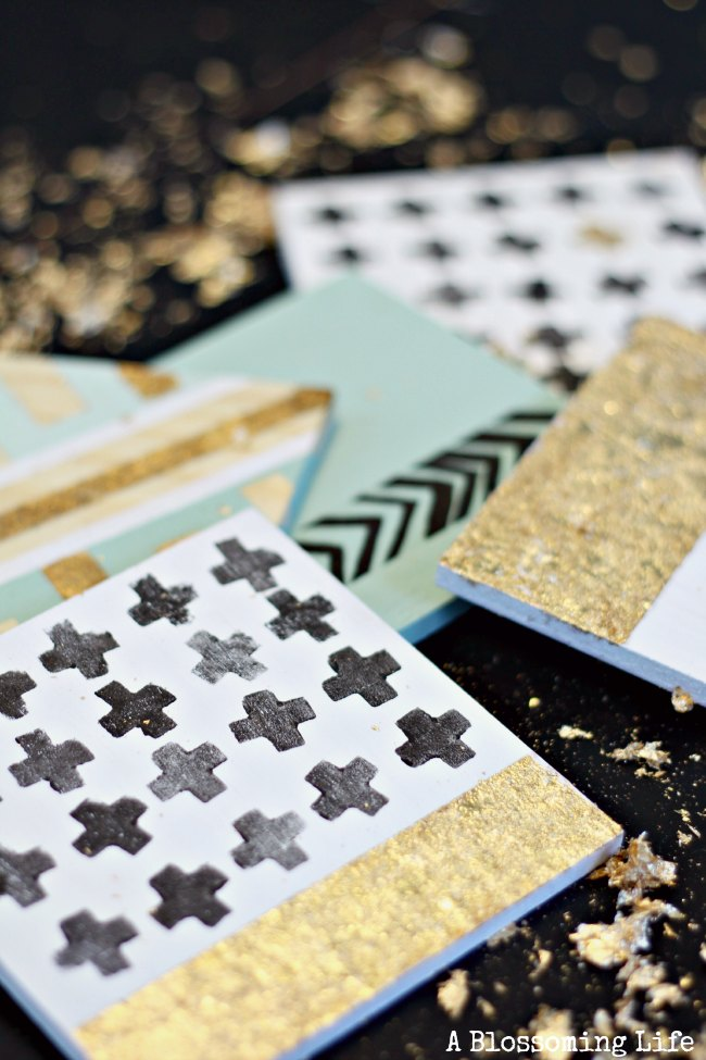 DIY Gold Leaf Coasters 5