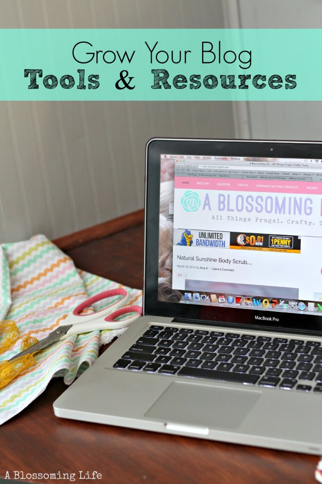 grow your blog tools and resources