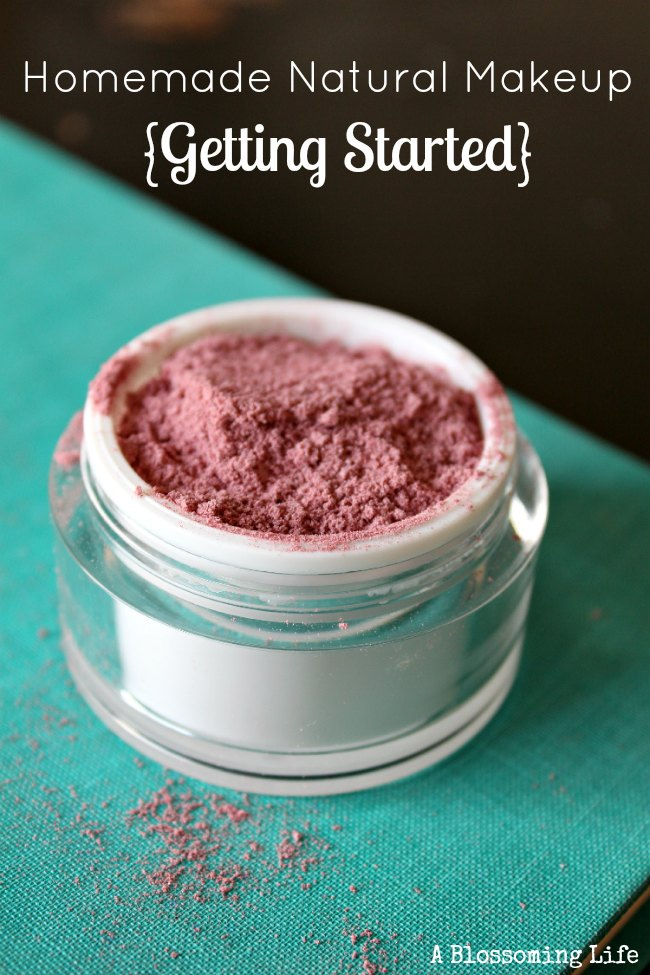 Getting Started with Homemade Natural Makeup