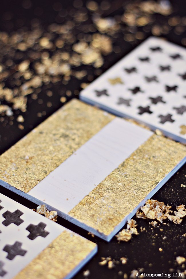 Anthropology inspired DIY gold leaf coasters (these would make a great handmade gift!)