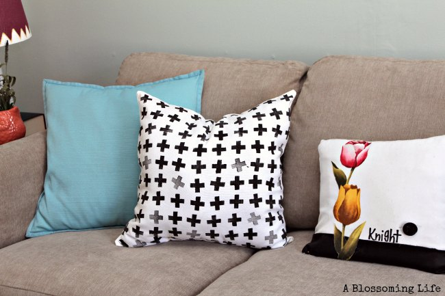 DIY Homemade Stamps and Hand Stamped Pillows