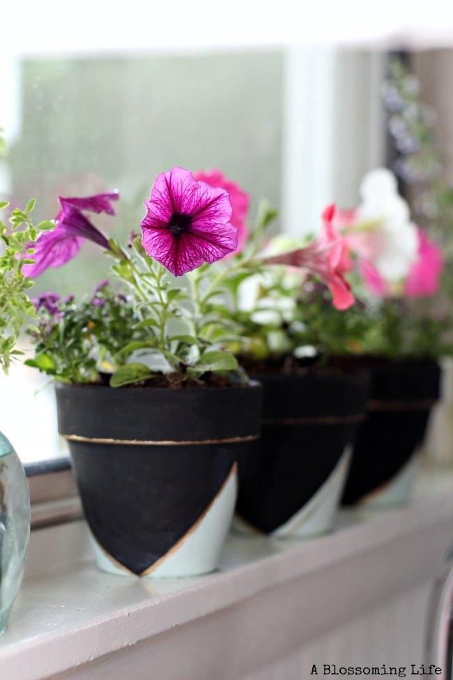 DIY geometric planters
