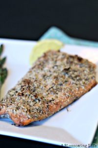 Italian Almond Crusted Salmon {Paleo & Whole30 approved}