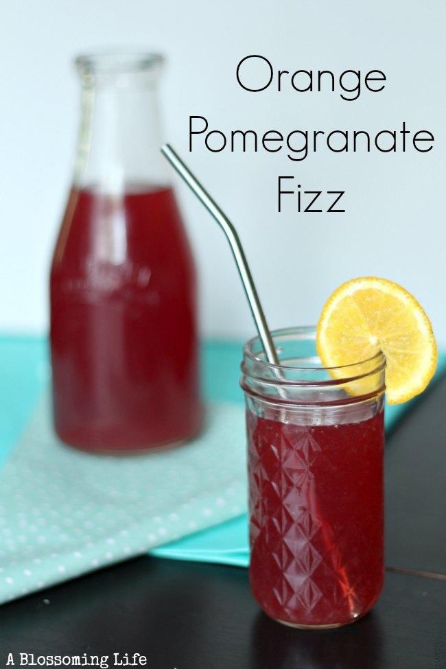 orange pomegranate fizz