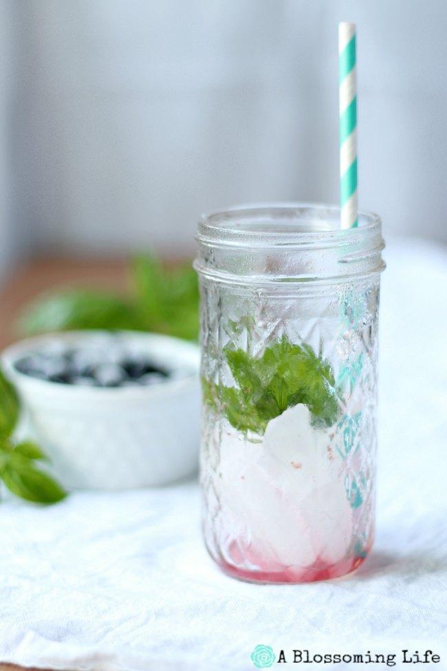 Blueberry Basil Lemonade Empty