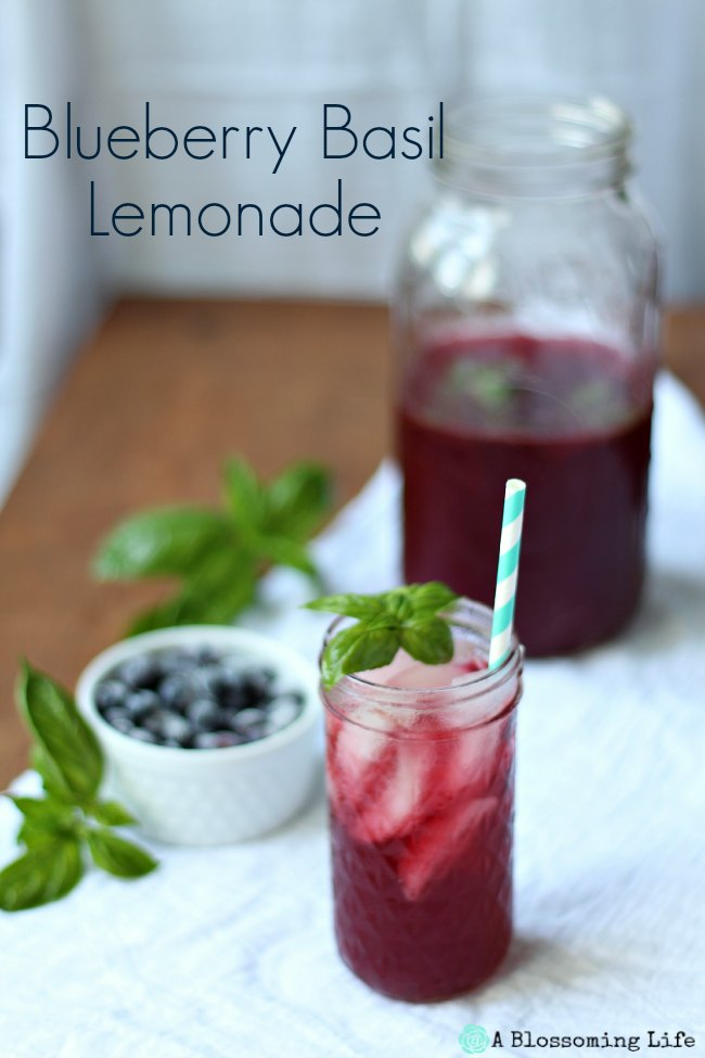 Blueberry Basil Lemonade Recipe