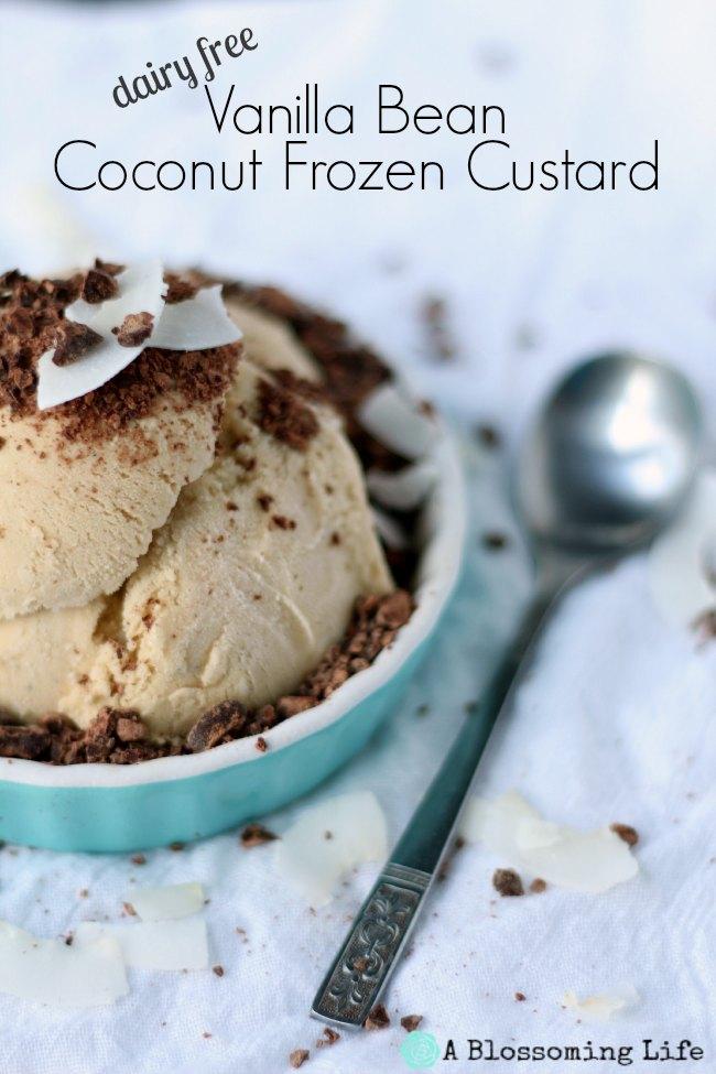 Vanilla Bean Coconut Frozen Custard