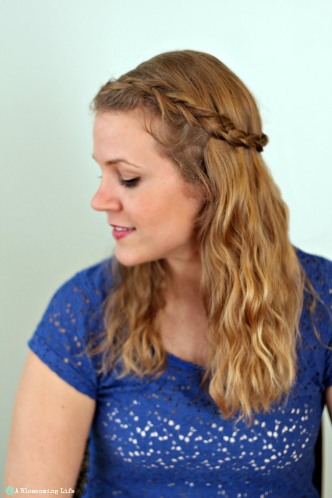 5 Minute Hair Half Braid