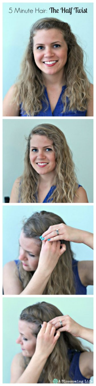 5 Minute Hair The Half Twist Steps