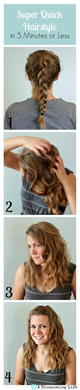Super Quick Less than 5 minute hairstyle