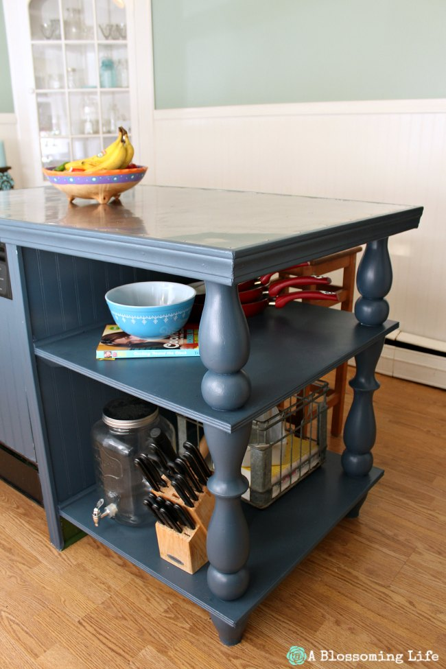 Kitchen island painted