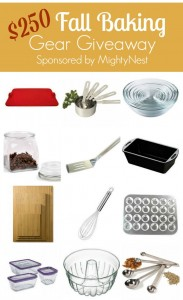 $250 Fall Baking Gear Giveaway {sponsored by MightyNest}