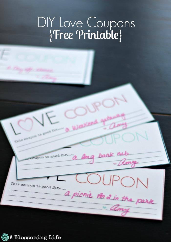 DIY Love Coupons- Free Printable