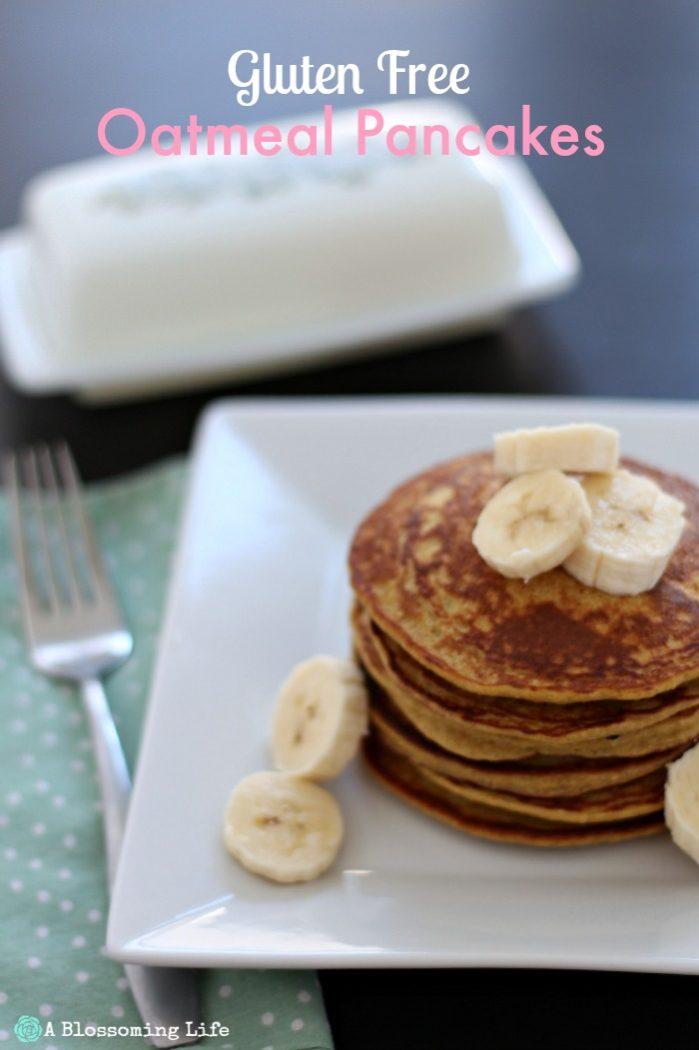 Gluten Free Oatmeal Pancakes