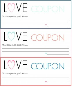 DIY Love Coupons {Free Printable}