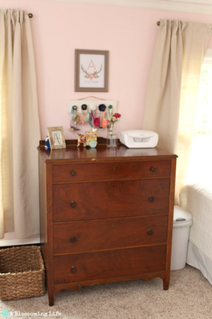 Woodland themed nursery- antique dresser