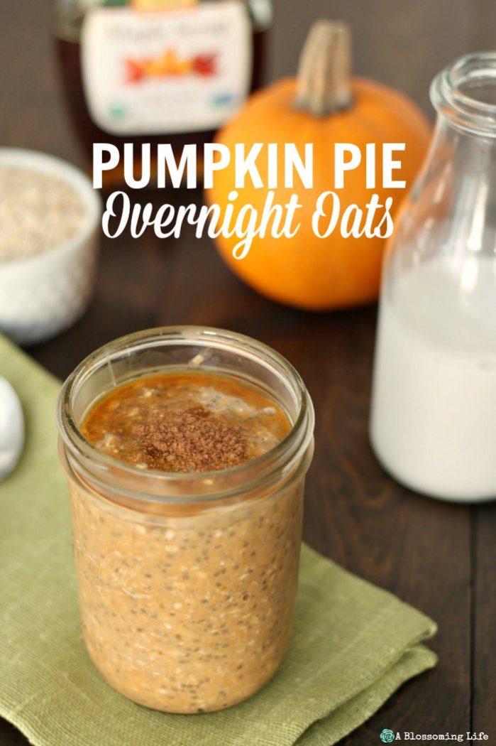 Pumpkin Pie Overnight Oats Recipe