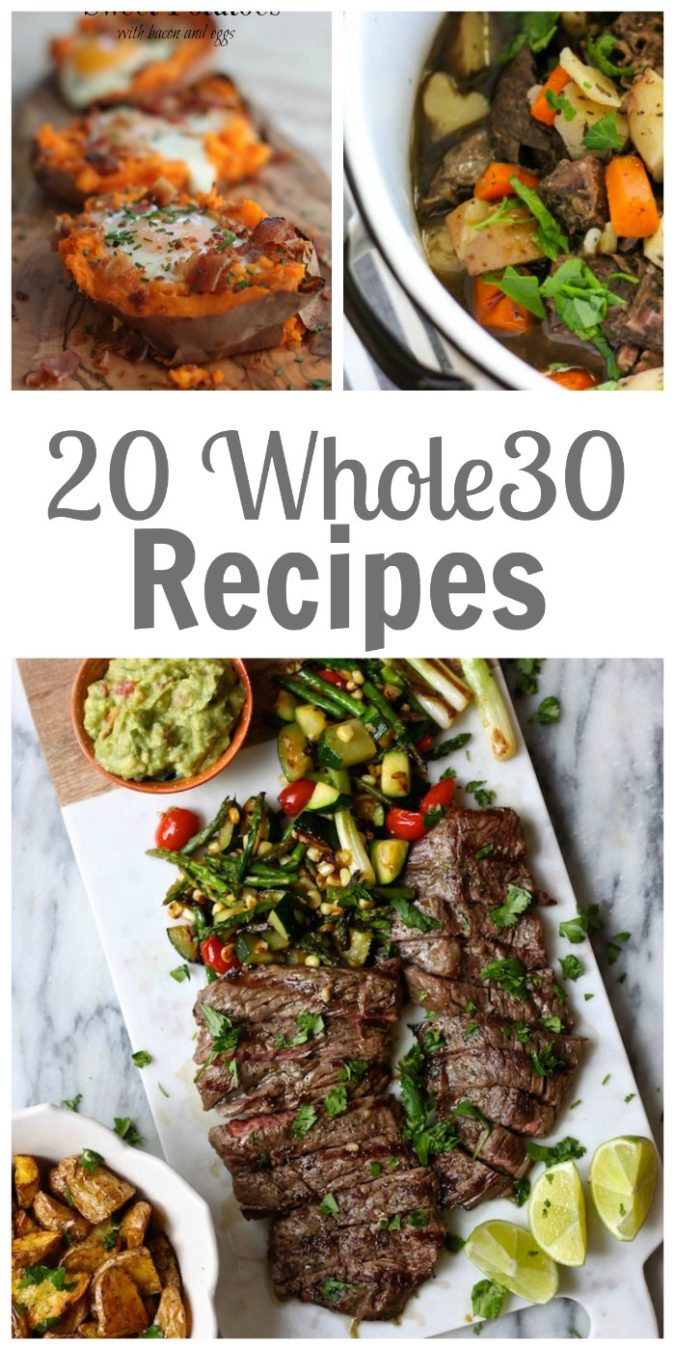 collage of whole30 recipes