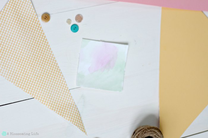 DIY Photo Magnets water color