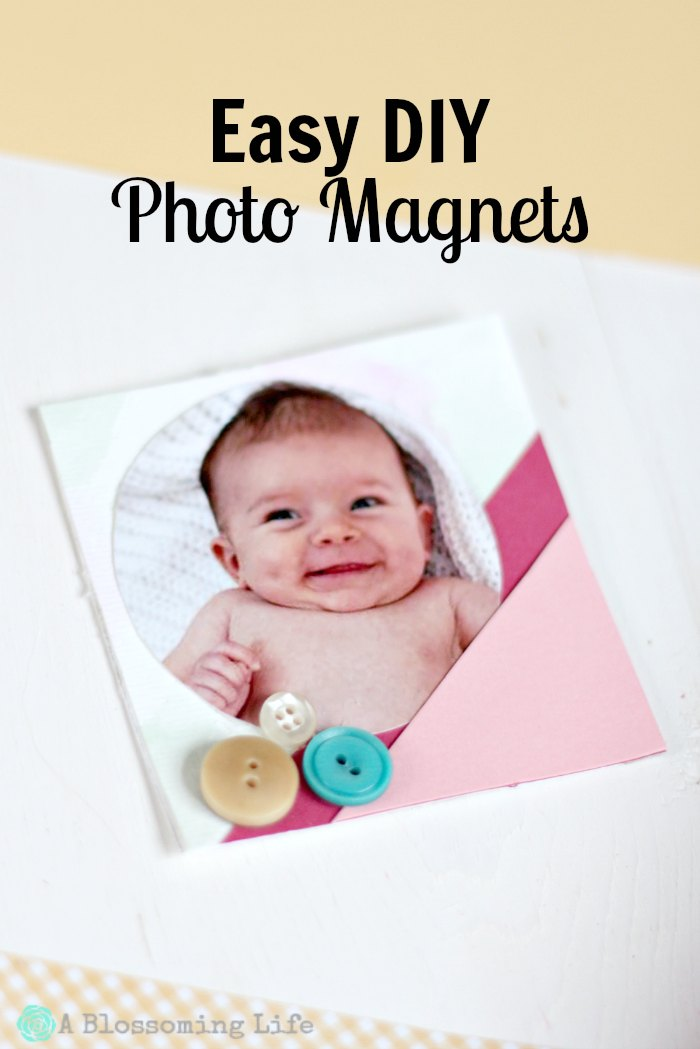 Easy DIY Photo Magnets