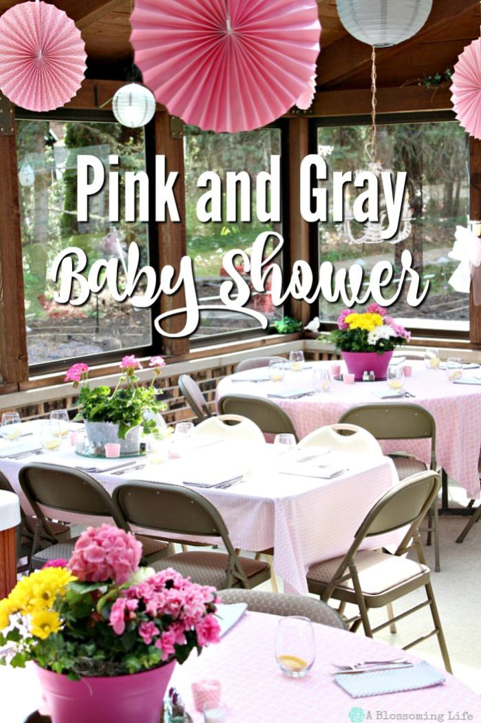 Pink and Gray Elephant Themed Baby Shower